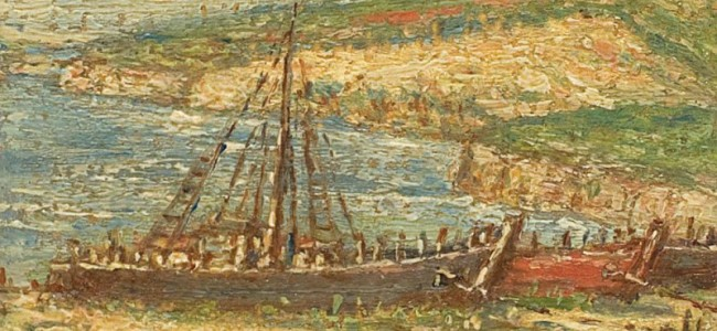 Un tablou de Partog Vartanian la  Licitaţia de Mărţişor-Artmark
