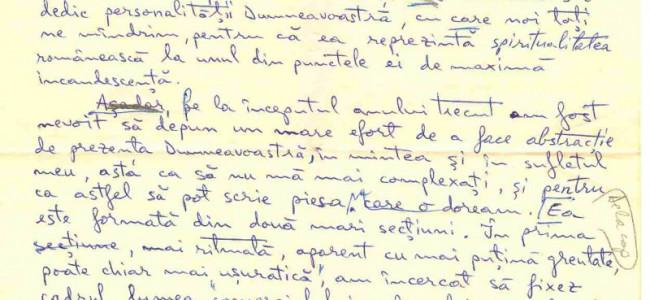 Harry Tavitian îi scria lui Mircea Eliade acum 25 de ani