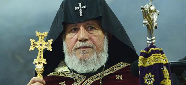 Mesajul SS Karekin al II lea, Catolicos al Tuturor Armenilor,                                                                                        adresat PS Episcop Datev Hagopian,                                                                           Întâistătător al Eparhiei Armene din România                                                                              cu prilejul  Sf. Paști