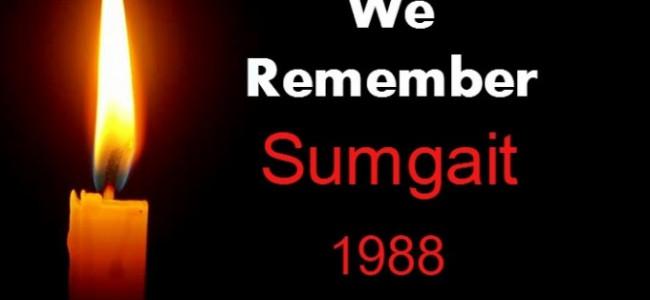 Februarie 1988 / Masacrarea armenilor din orașul Sumgait – Azerbaidjan