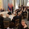 PARIS / Dineul de gală  prilejuit de întâlnirea președintelui Republicii Armenia, Serj Sargsyan, cu liderii comunităților armene din Europa