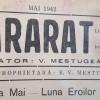 ARARAT ACUM 75 DE ANI –  MAI  1942