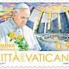 Un timbru emis de Vatican îl prezintă pe Papa Francisc în fața Memorialului Genocidului Armean de la Erevan