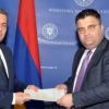 COMUNICAT de PRESĂ / Primirea de către secretarul de stat Dan Neculăescu a ambasadorului agreat al Republicii Armenia la București, Sergey Minasyan, în vederea prezentării copiilor scrisorilor de acreditare