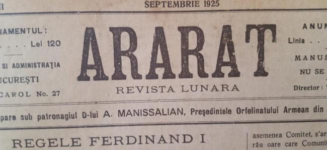 DIN ARARATUL DE ODINIOARĂ – SEPTEMBRIE 1925