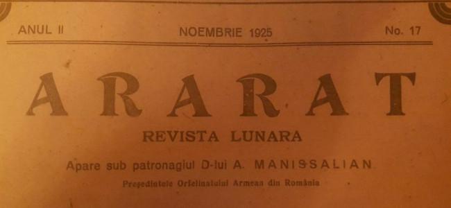 DIN ARARAT-UL DE ODINIOARĂ-NOIEMBRIE 1925