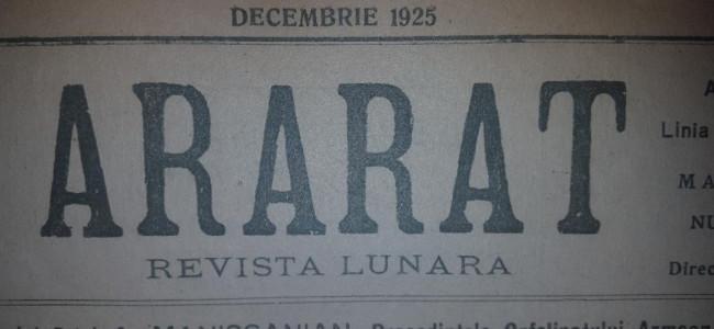 DIN ARARATUL DE ODINIOARĂ-DECEMBRIE 1925