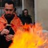 """Foc în curtea Bisericii Armene """"Sfânta Maria"""" din Constanța"""
