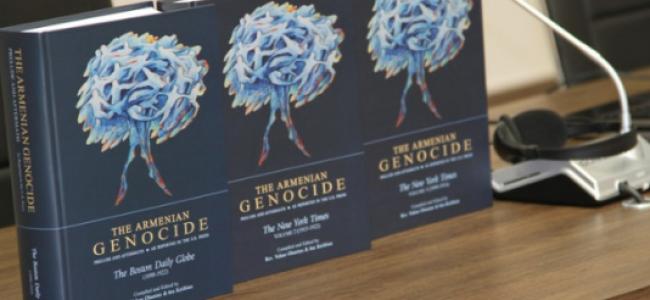 EREVAN / Prezentarea  primelor 3 cărți dintr-o serie de 10 dedicate genocidului armenilor în presa americană între 1890 și 1922