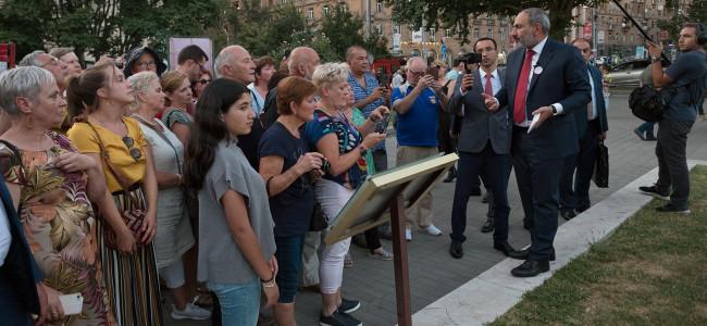 ARMENIA / Nikol Pashinyan a prezentat Erevanul unui grup de turiști străini