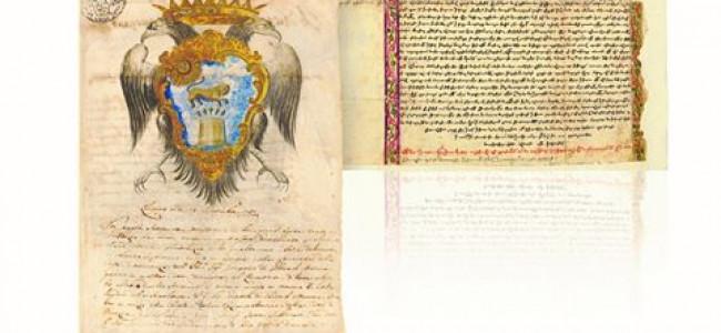 EREVAN / Expoziție de documente din arhiva Bibliotecii Matenadaran,  semnate de Țarii Rusiei  sau Napoleon I