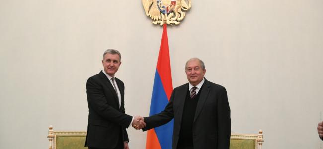 Președintele Armeniei, Armen Sarkissian a trimis un mesaj de felicitare Principelui Radu al României