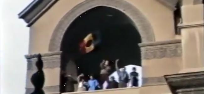 VIDEO / Clopotele care vestesc libertatea, trase la Biserica Armenească / 22.12.89