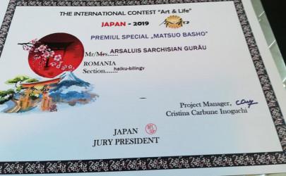 """JAPONIA / """"Premiul Special"""" pentru doamna Arșaluis Sarchisian Gurău"""