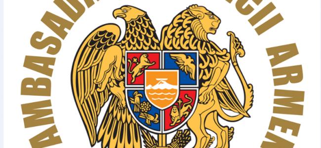 COVID-19 / Comunicat din partea Ambasadei Republicii Armenia în România