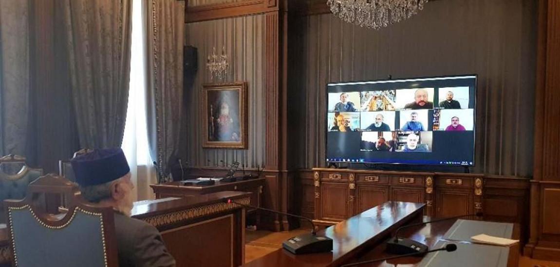 S.S. Karekin al II-lea,  Patriarh Suprem, Catolicos al Tuturor Armenilor, a avut o întrevedere online cu Întâistătătorii Eparhiilor Armene din Europa