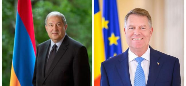 Președintele Armeniei, Armen Sarkissian a trimis un mesaj de felicitare Președintelui României, Klaus Iohannis