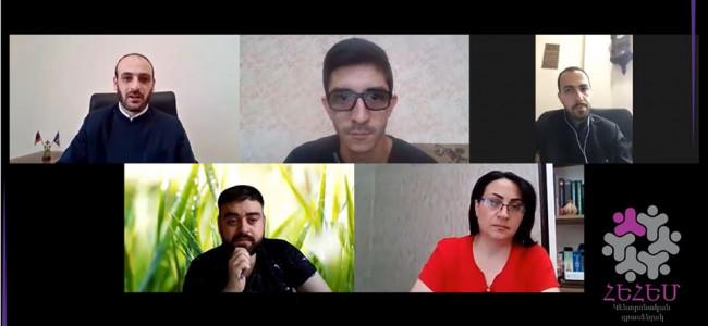 Întâlnirea online între membrii Biroului Central al Organizației Mondiale de Tineret Armean din cadrul Bisericii Armene cu responsabilii cu problemele de tineret ai Eparhiei Armene din România