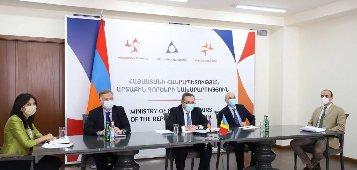 Consultări ale secretarului de stat pentru afaceri strategice, Dan Neculăescu, cu adjunctul ministrului afacerilor externe din Republica Armenia, Avet Adonts