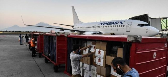 SOLIDARITATE / Primul zbor umanitar din Armenia spre Liban a plecat cu medicamente și consumabile medicale