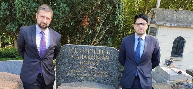 PARIS / Omagiu adus lui Avetis Aharonian, care a semnat Tratatul de la Sèvres în numele Armeniei