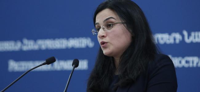 ARMENIA / Comentariu  purtătorului de cuvânt al Ministerului de Externe, Anna Naghdalyan cu privire la declarația făcută de Ministerul de Externe al Turciei