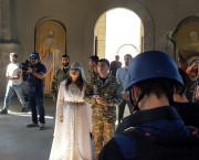 ARȚAKH / Catedrala  Ghazancețoț din Șuși a găzduit prima nuntă după bombardamentul azer