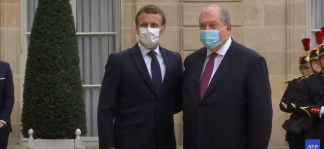 FRANȚA / Președintele Macron l-a primit pe omologul său  Armen Sarkissian