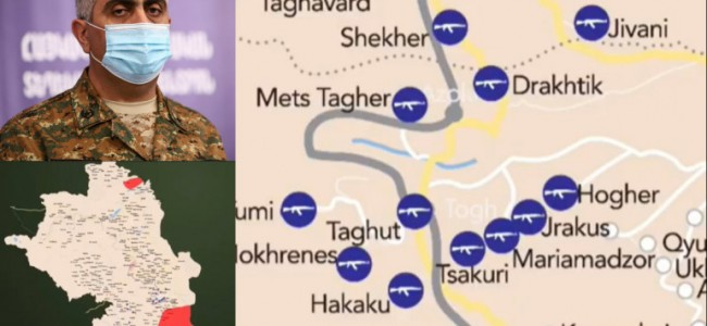 ARȚAKH / Ardzrun Hovhannisyan a prezentat harta cu luptele în desfășurare