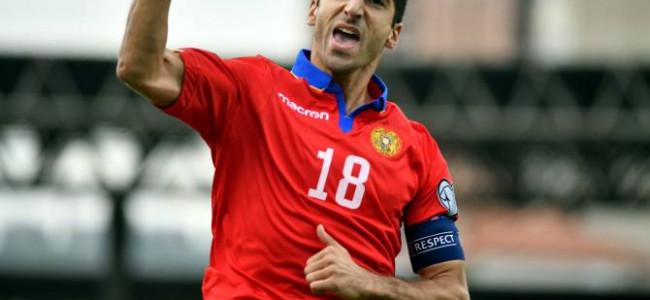 FOTBAL / Henrikh Mkhitaryan a fost desemnat, pentru a zecea oară, jucătorul anului în Armenia