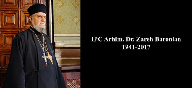 Slujba de parastas de trei ani a celui ce a fost vrednicul de pomenire Părinte Arhimandrit Dr. Zareh Baronian
