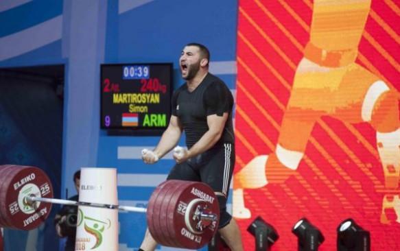 TOKYO 2020   Halterofilul Simon Martirosyan (109 kg) a adus o medalie olimpică de argint  Armeniei
