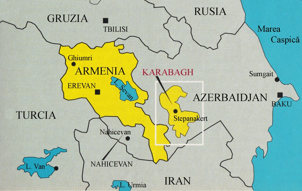 Harta Armenia Karabagh Araratonline Com
