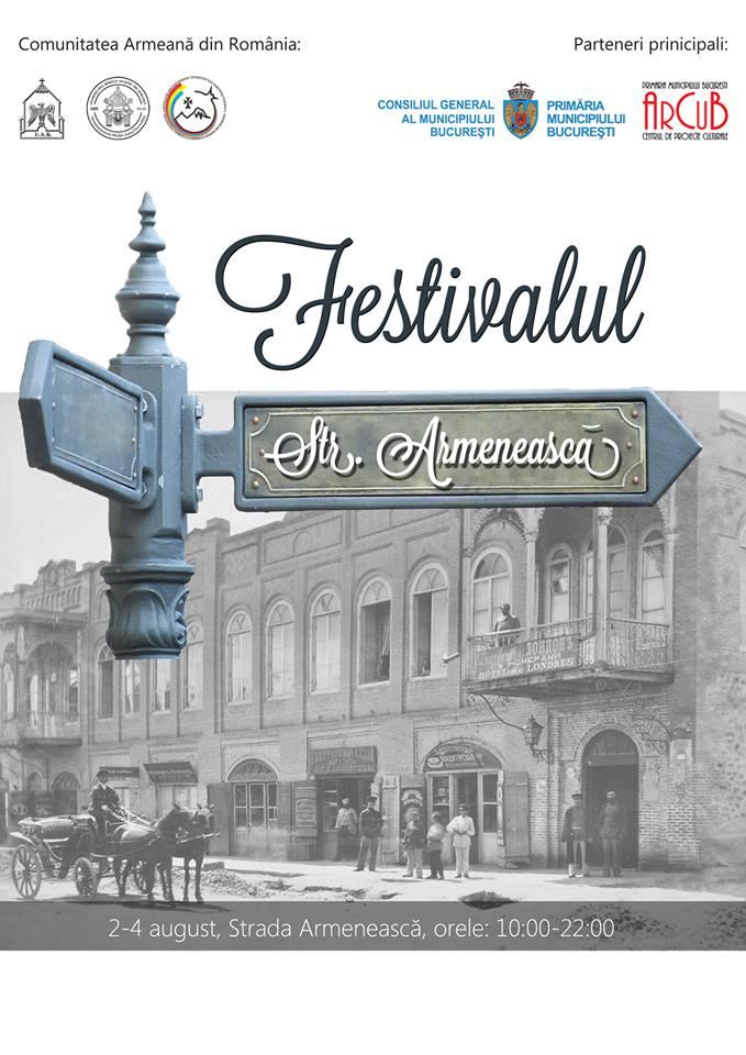 Afis Festivalul Strada Armeneasca