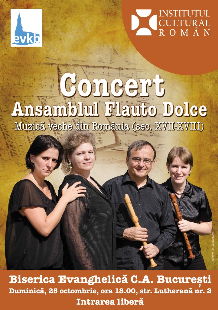 POSTER CONCERT Flauto Dolce 25.10.2015
