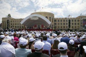 1. papa francis in gyumri piata vartanats 25 iunie2016