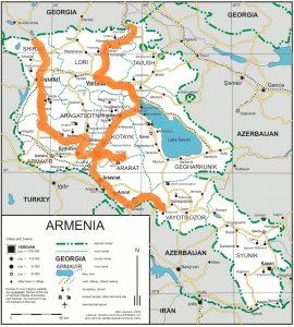 itinerar Armenia