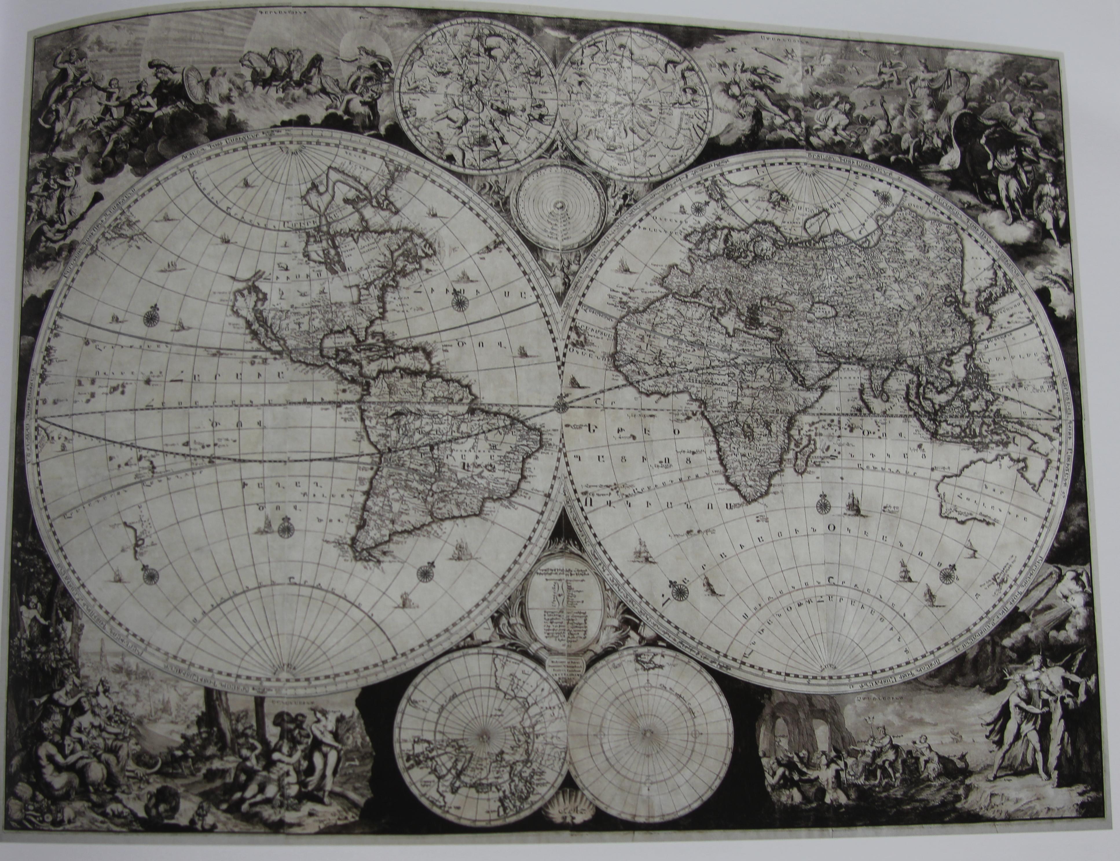 Fig. 30. Harta lumii, Amsterdam 1695,