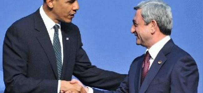 Discuţii între preşedinţii Obama şi Sarkissian la Washington