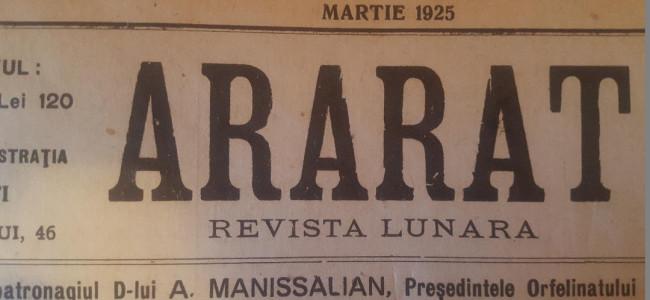 DIN ARARATUL DE ODINIOARA – MARTIE 1925