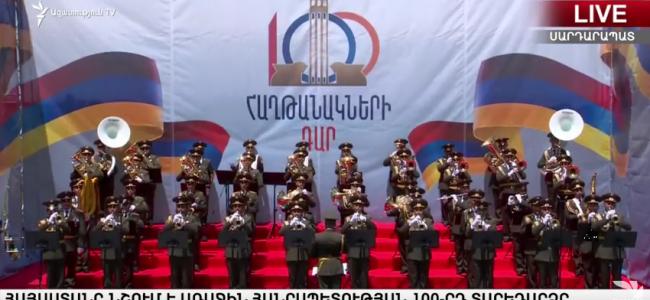 VIDEO / Paradă militară la Sardarabat cu ocazia Centenarului Primei Republici Armene