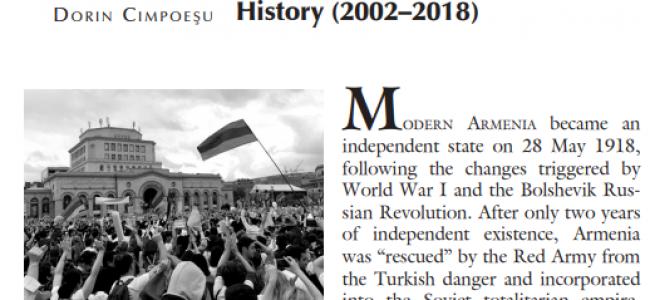 "Transylvanian Review / A apărut studiul  ""Armenia: The Inedited Pages of Recent History (2002–2018)"" semnat de Dorin Cimpoeșu"