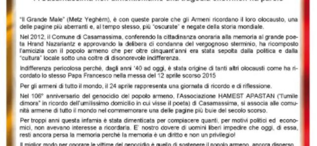 ITALIA / Mesajul Asociației Hamest Apastan