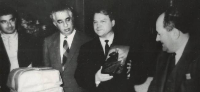 Poze istorice cu compozitorul Aram Haciaturian la București
