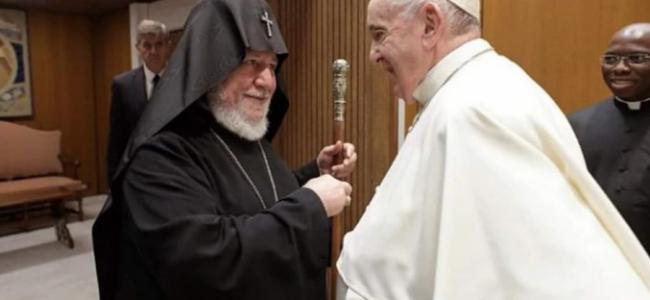 VATICAN | Papa Francisc s-a întâlnit cu S.S. Karekin II, Catolicos al Tuturor Armenilor