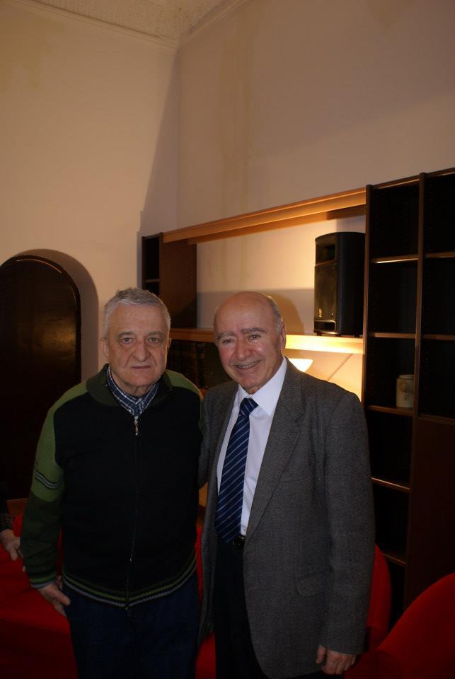 Gheorghe Florescu ( care ne-a oferit cafeaua ! ) și Varujan Cozighian