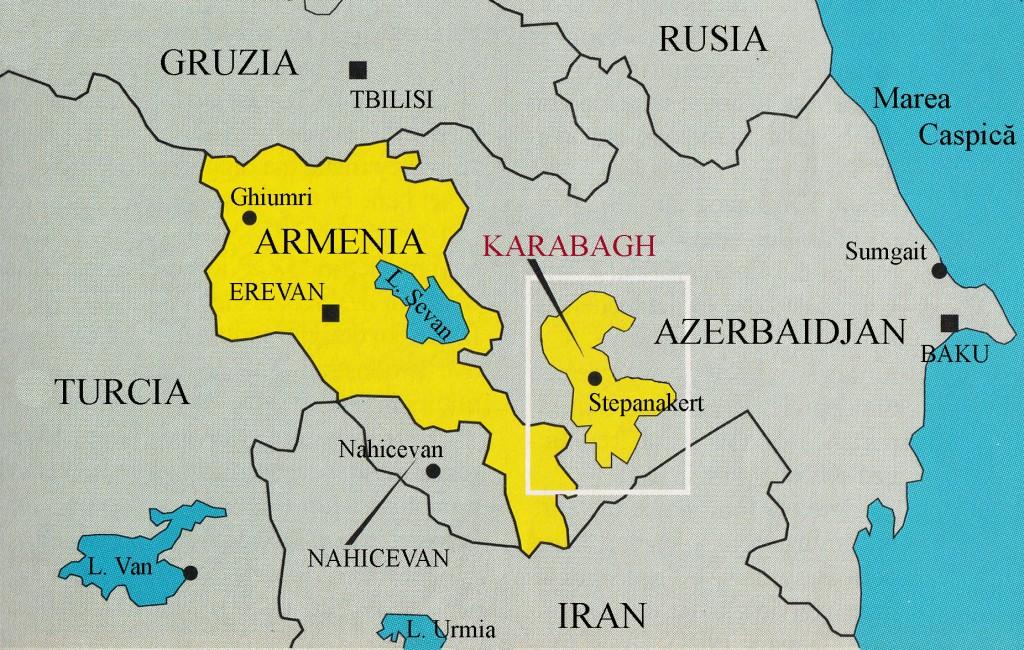 HARTA ARMENIA KARABAGH