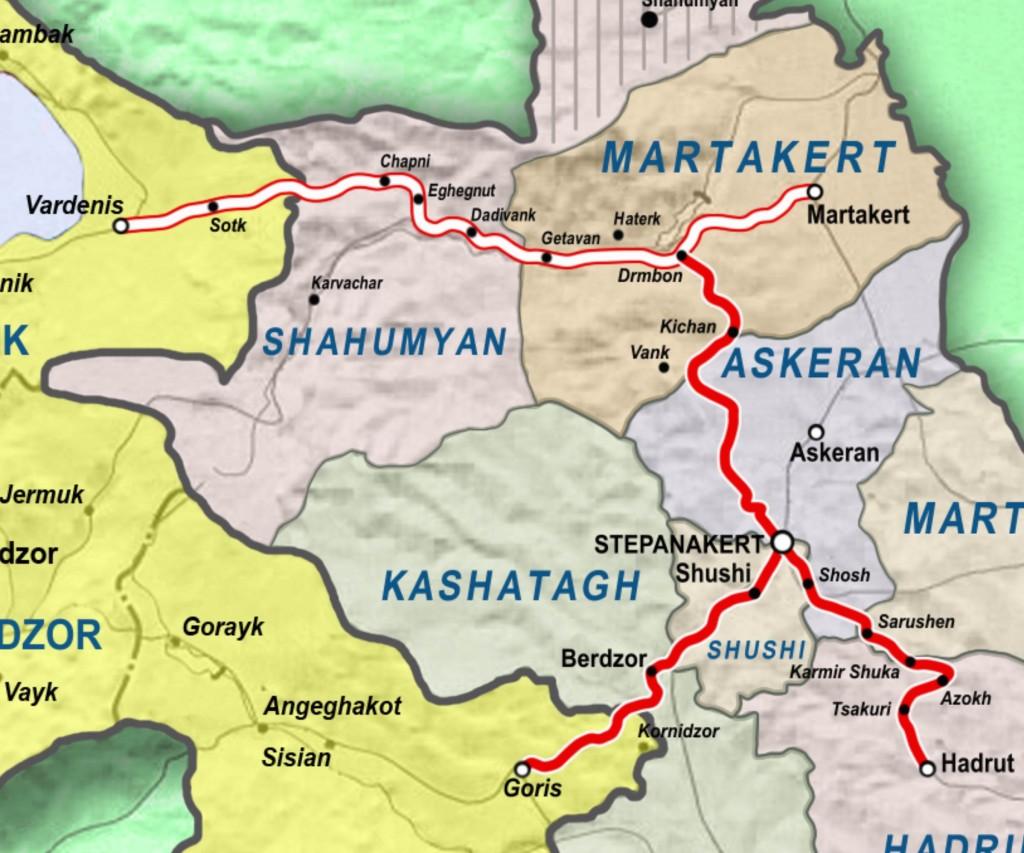 Vardenis Martakert Highway
