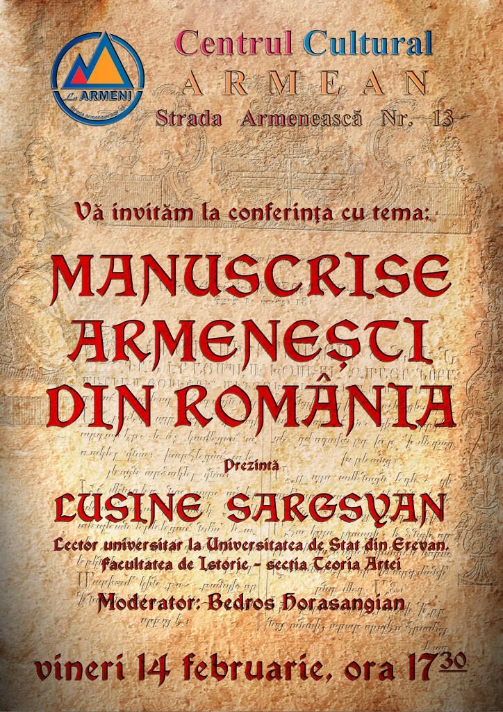 afis manuscrise armenesti redus