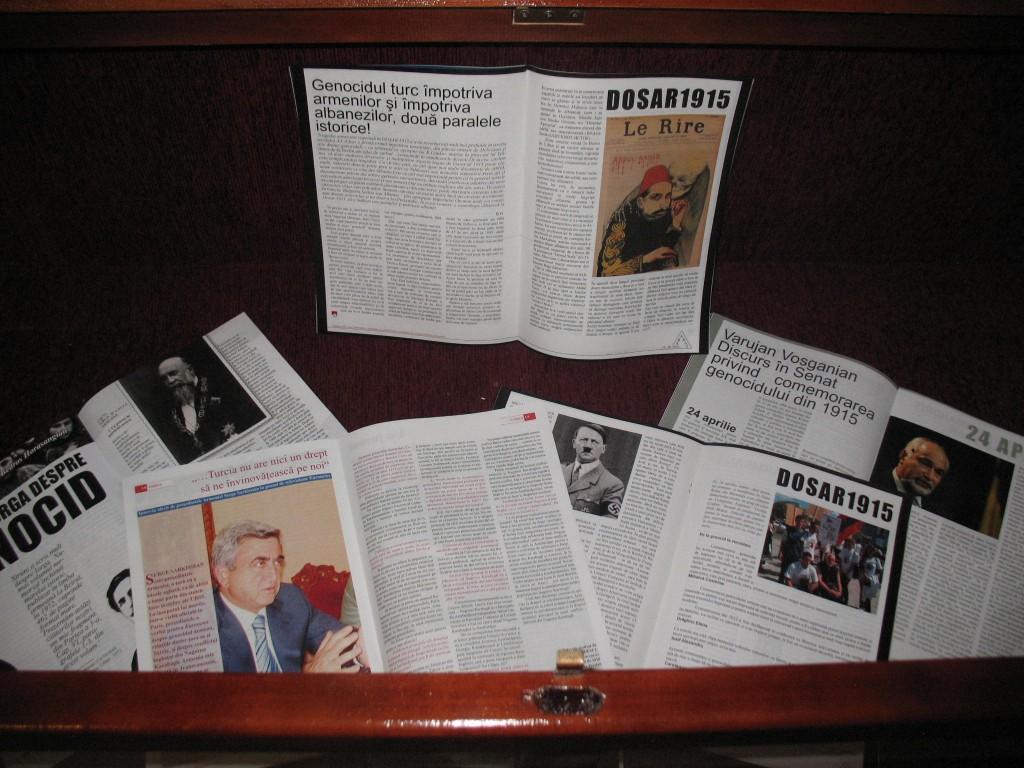 15. Exponat din Expozitia despre genocidul armen din 1915, biserica Sfanta Maria